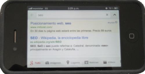 Aplicación de Google para el iPhone