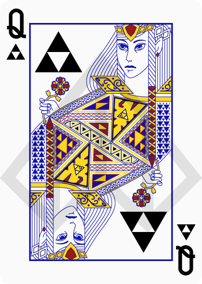 Zelda-Legend-Playing-Cards-by-Nelde-Queen-of-Clubs