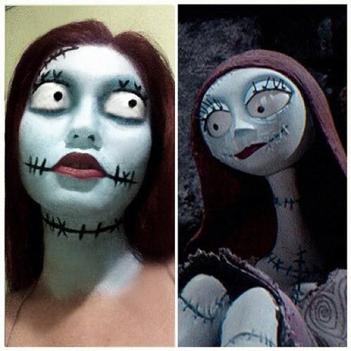 nightmare before christmas makeup decorating