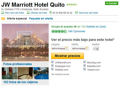 Tripadvisor para el marketing online de hoteles