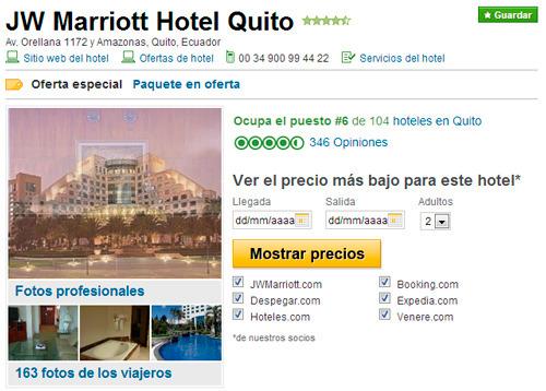 Tripadvisor para el marketing online de hoteles