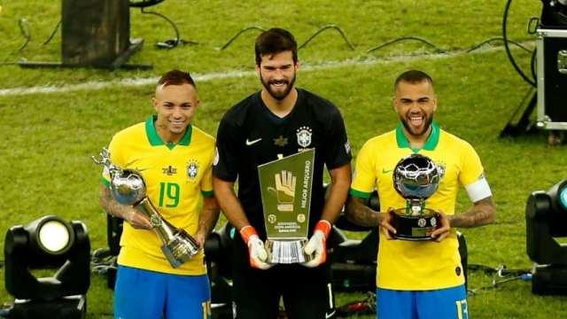 Brasil copó los premios individuales de la Copa América
