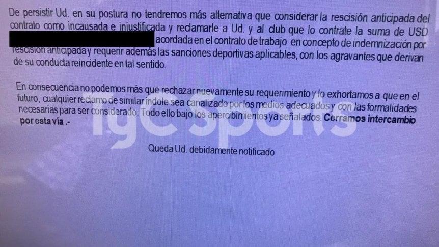 Silva pidió la libertad, pero Independiente asegura que incumple su contrato