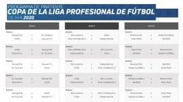 Professional League Cup: this is the complete fixture