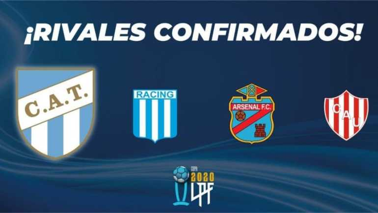 Atlético Tucumán will integrate Group 1, along with Racing, Arsenal and Unión