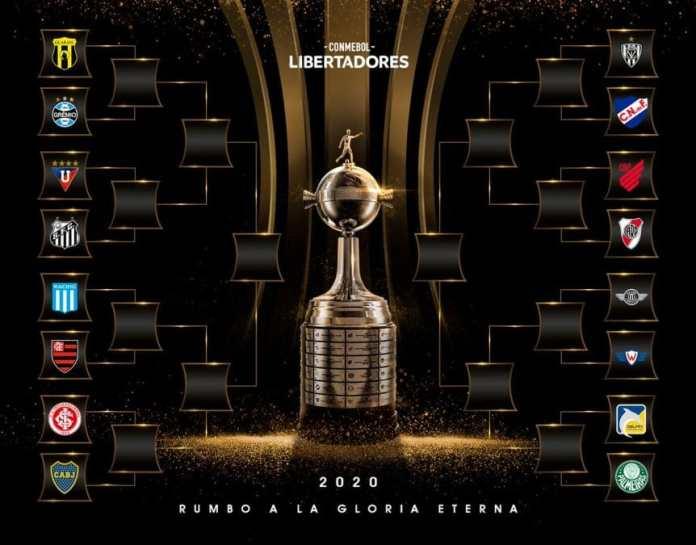 Copa Libertadores: Boca, River y Racing, contra brasileños en los octavos de final