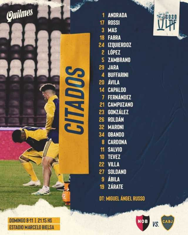 Boca presentó los concentrados para visitar a Newell's por la Copa Liga Profesional