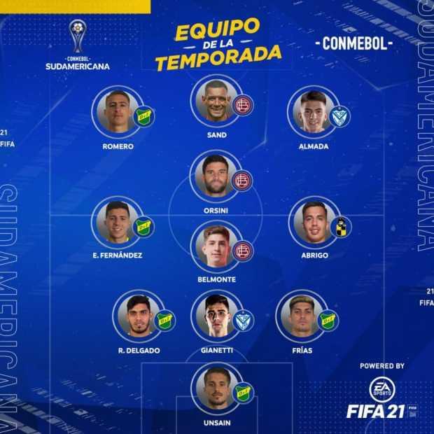 El equipo ideal de la Copa Sudamericana, con 10 de 11 jugadores argentinos