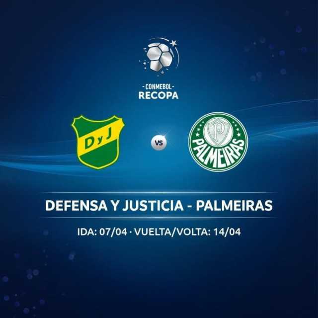 Recopa Sudamericana: Defensa y Justicia vs. Palmeiras, con fecha confirmada