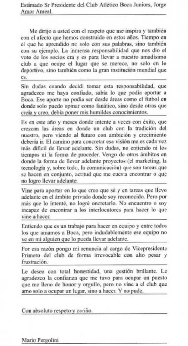 Carta Mario Pergolini