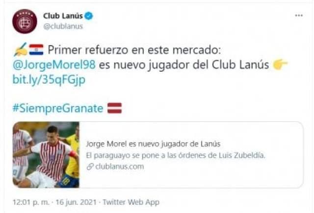 Tuit Jorge Morel