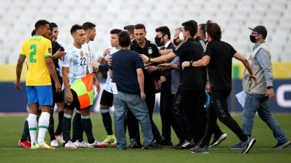 Brasil-Argentina, interrumpido