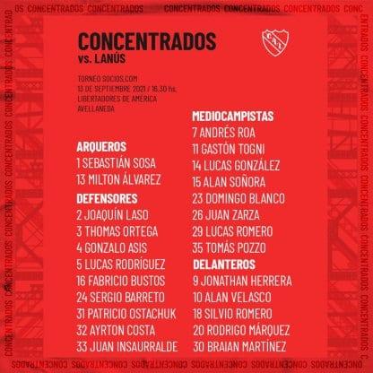 Independiente concentrados