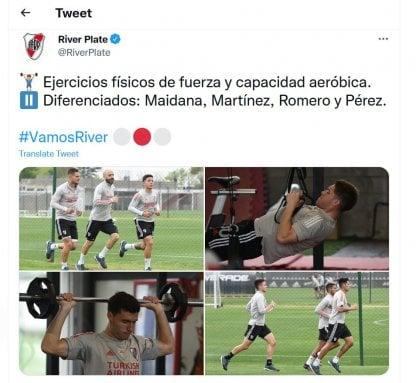 River entrenamiento