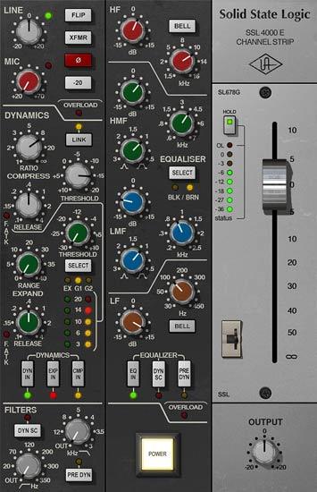 Ssl 4000 E Channel Strip Collection Uad Audio Plugins