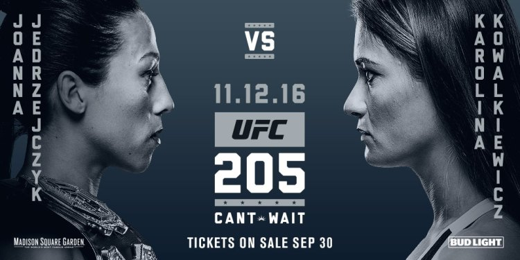 Image result for ufc 205 joanna vs karolina