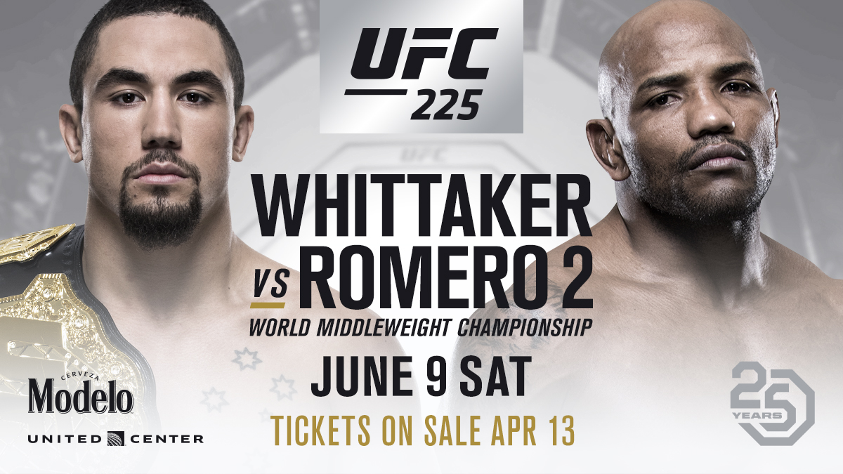 Image result for UFC 225: Whittaker vs. Romero 2