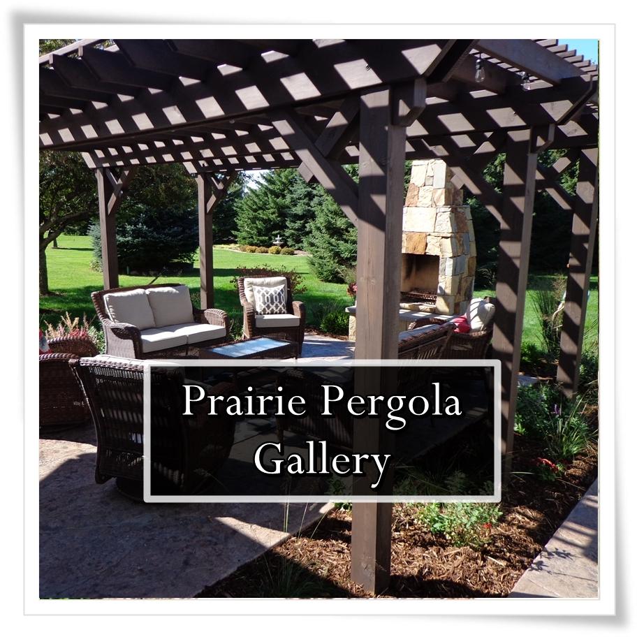 Button to Prairie Pergola Landscape Gallery/Portfolio
