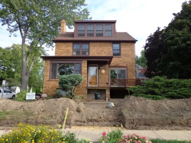 Landscape renovation in progress