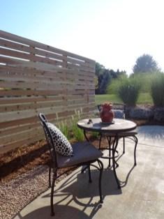 Custom trellis near concrete patio