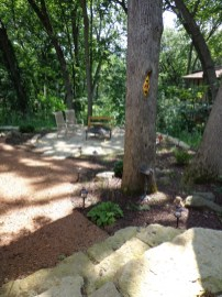 Decomposed granite walk with natural stone steps