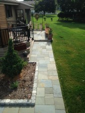 Bluestone paving and curbing