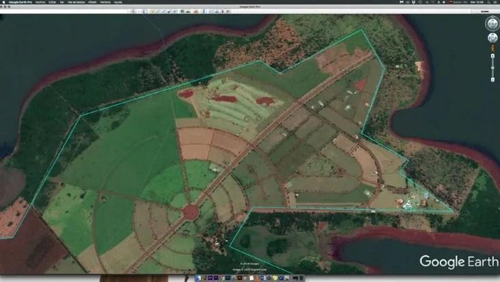 Vista. Imagen satelital   del Santa Elena Country & Marina Club