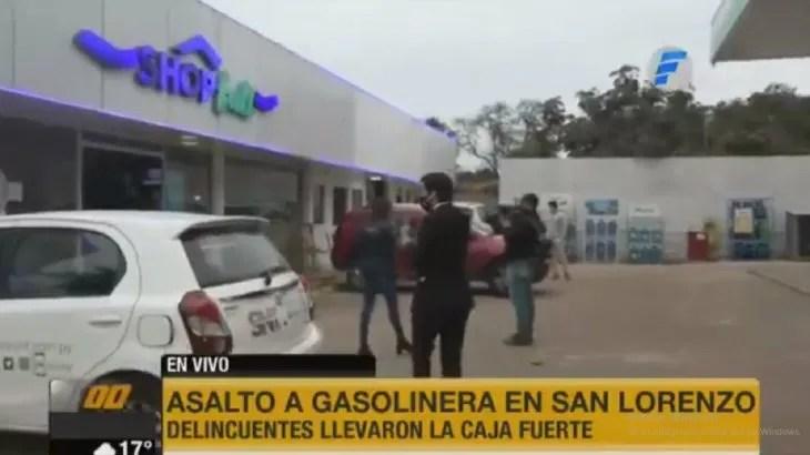 Una estación de servicio fue violentamente asaltada este lunes en San Lorenzo.