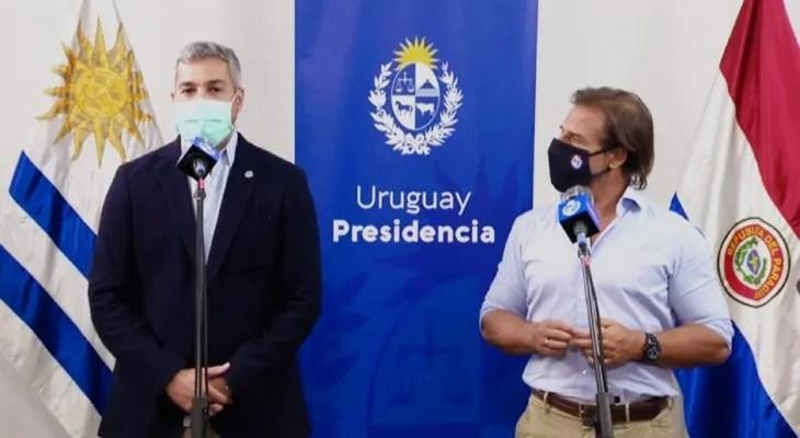 Los presidentes de Paraguay y Uruguay