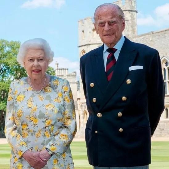 Foto oficial de la reina Isabel II y el duque de Edimburgo