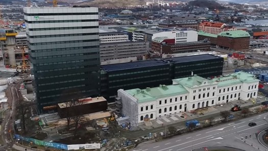 Regionens hus med Bergslagsbanans station