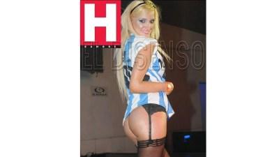 Sofía Pacchi en la revista Hombre.