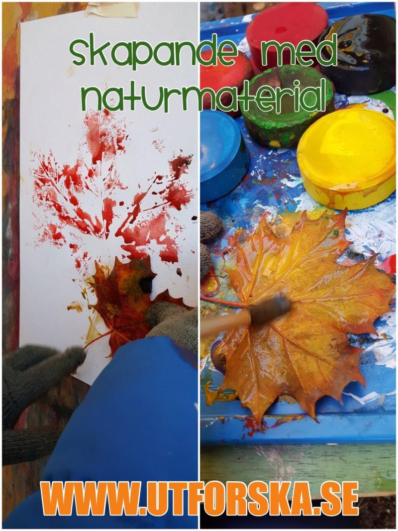 Skapande med naturen för att göra avtryck