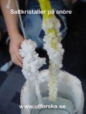 Utforska saltkristaller på ett snöre
