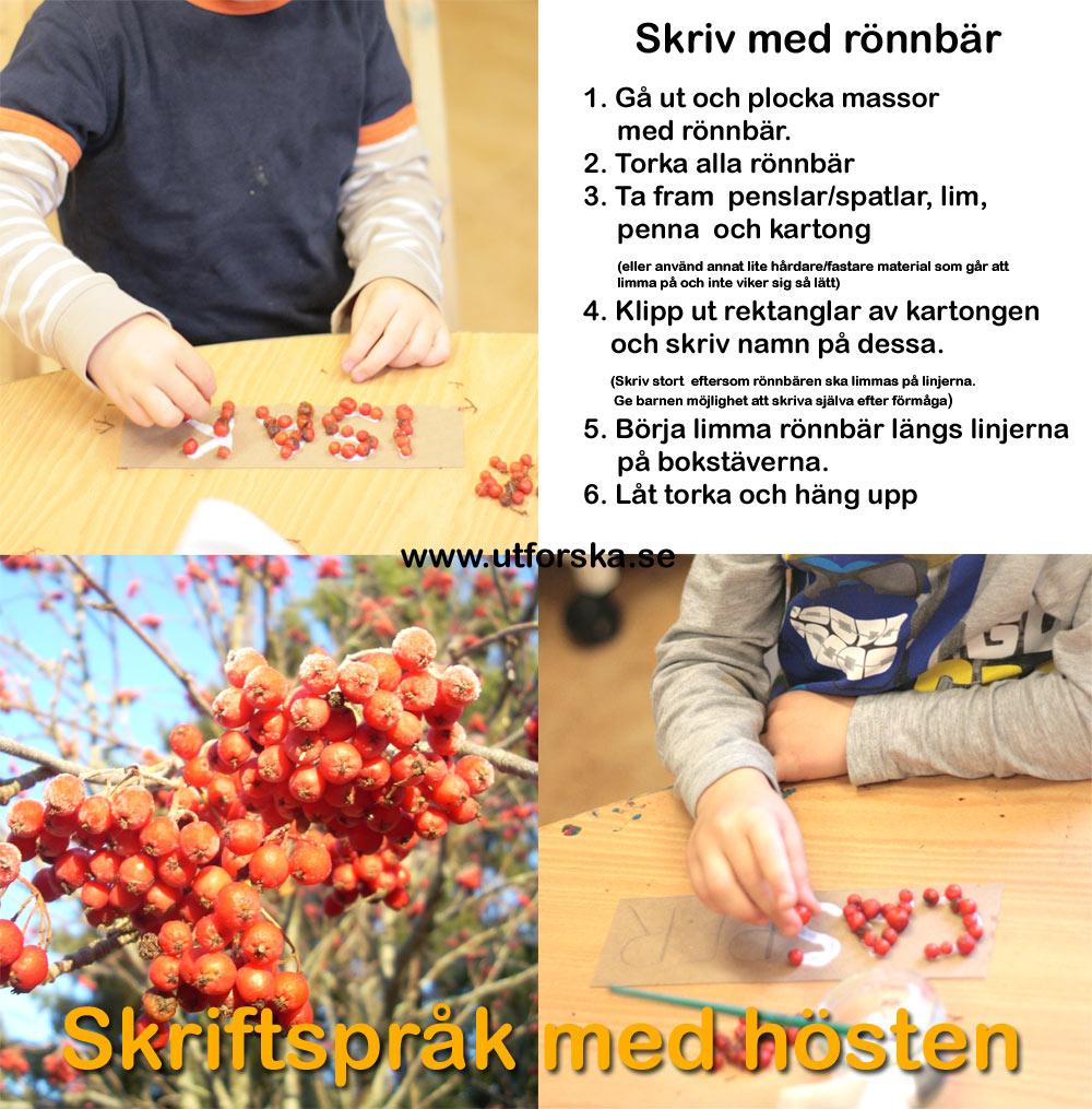 Utforska skriftspråk med rönnbär