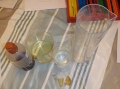 vattenexperiment vatten, olja och sirap