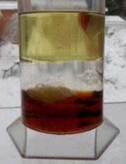experiment vatten olja sirap