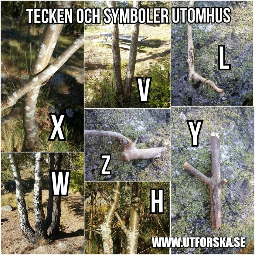 Utforska tecken och symboler utomhus