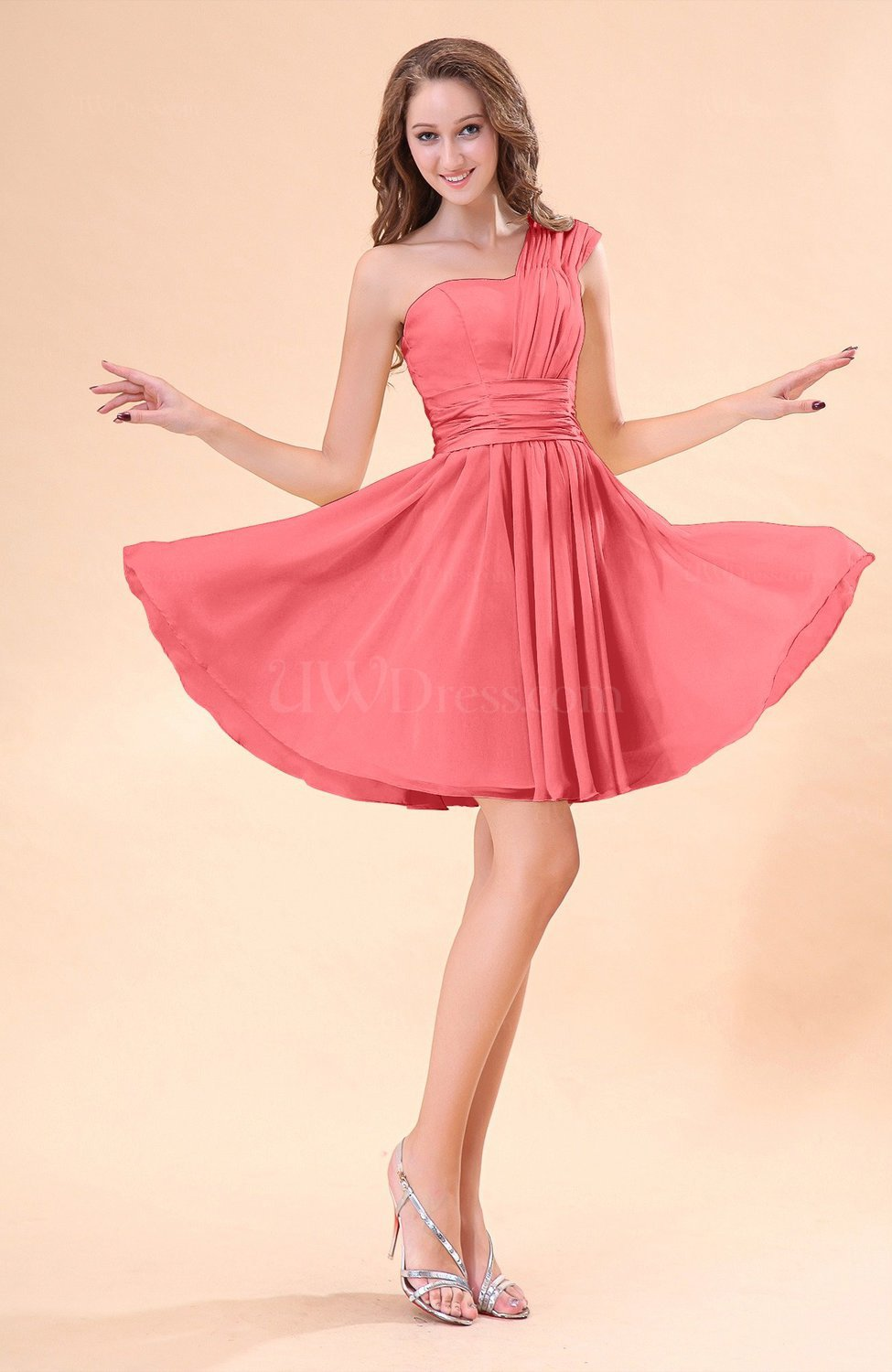 Coral Dress For Wedding Guest 1