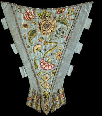 Stomacher, English, c. 1730-1750. Victoria and Albert Museum, London