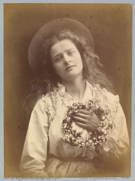 Julia Margaret Cameron, 'For I'm to be Queen of the May, Mother'; The May Queen, 1875. Copyright Victoria & Albert Museum.