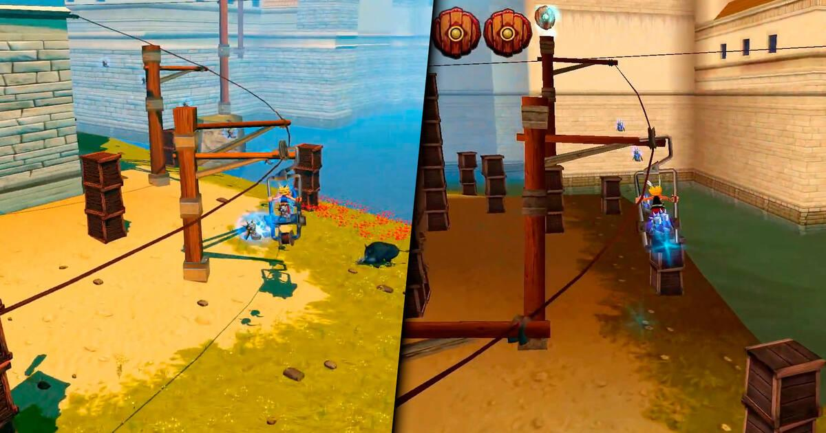 Asterix & Obelix XXL Romastered shows its retro mode on video