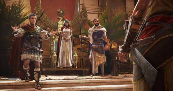 Assassins Creed Origins Julio César y Cleopatra
