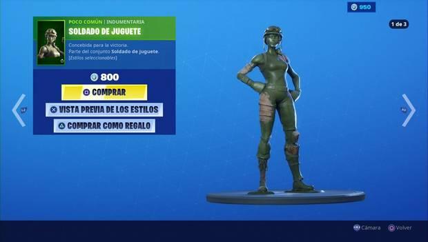 Fortnite - Skins: Soldado de juguete