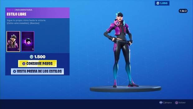 Fortnite - Skins: estilo libre