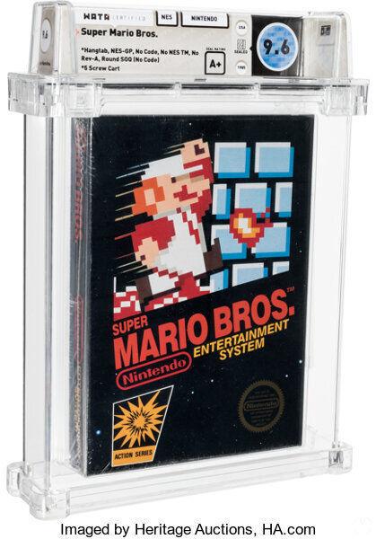 Copia sellada de Super Mario Bros. para NES.