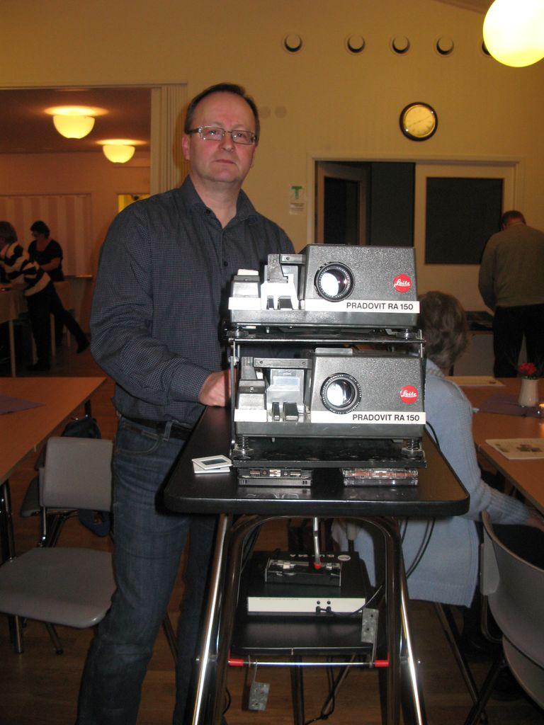P-O Johansson visade bilder från Dalsland till Härjedalen