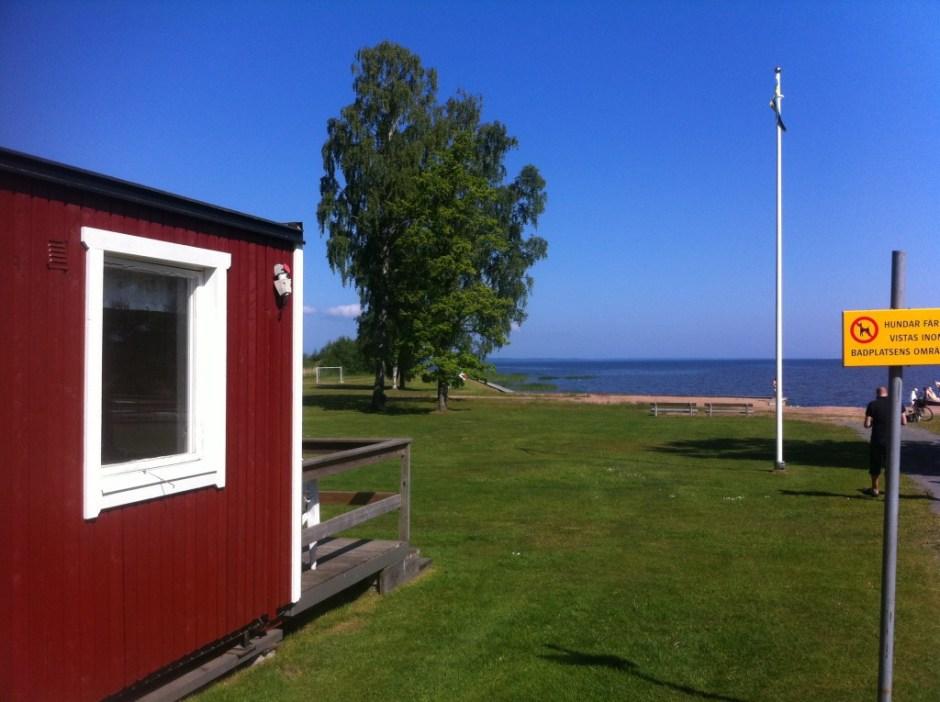 Här fick vi en skymt av Vänern. Har ni sett en blåare himmel?