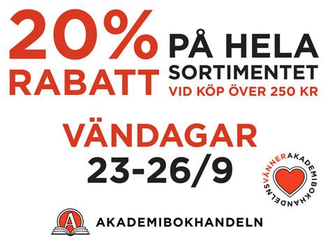 Vändagar 23-26/9 20% Rabatt