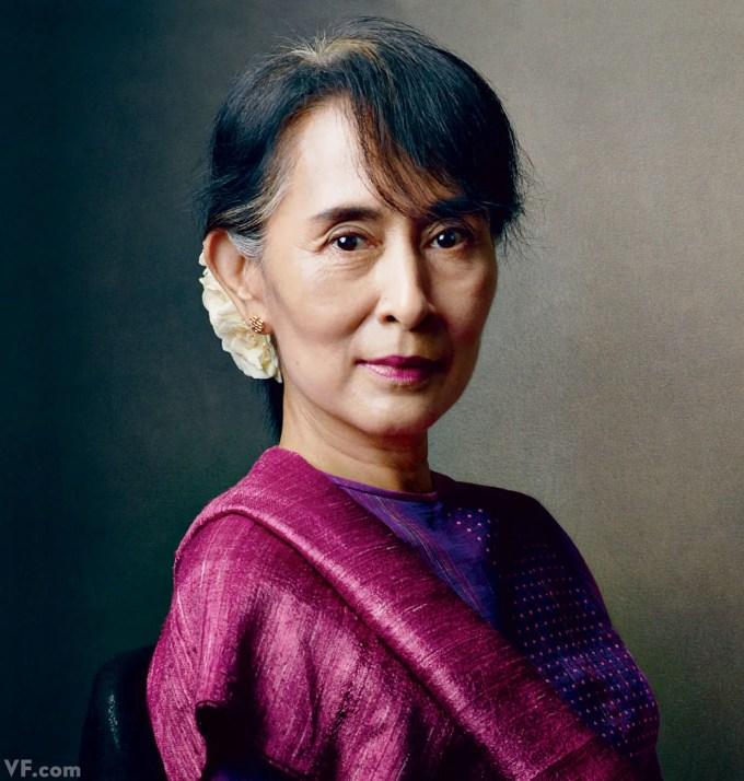 V.F. Portrait: Burma's Political Heroine Aung San Suu Kyi | Vanity ...